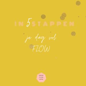 In 5 stappen een dag vol Flow